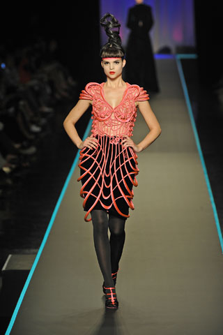 Untailored fashion designing vocab jerk for Jean paul gaultier clothing