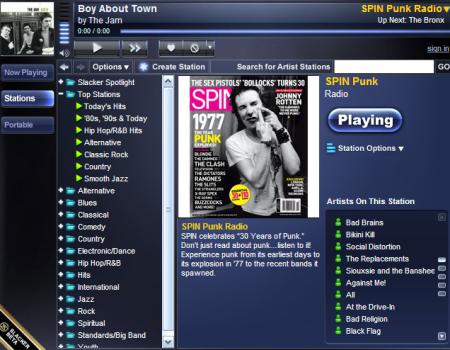 Slacker Internet Radio