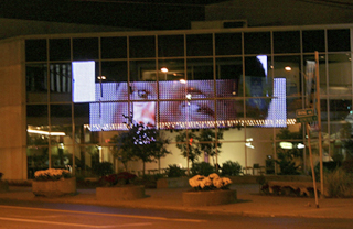 The latest UVP installation on the side of Syracuse Stage.