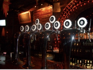 Empire's brew on tap at the bar