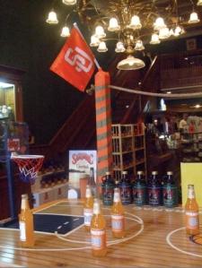 Saranac showing its SU pride in the gift shop