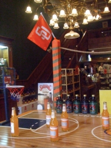 Saranac showing its SU pride in the brewery gift shop