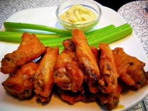 Try some of the Factory's signature wings with a Honey Light