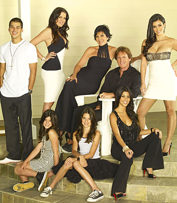 "The cast - er - family of E!'s ""Keeping up with the Kardashians."""
