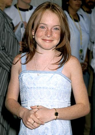 Lindsay Lohan's face in 1998.
