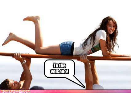 Tagged death, Miley Cyrus, volcano