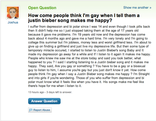 Justin Bieber and being Gay